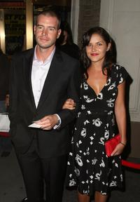 Scott Foley and Marika Dominczyk at the opening night of
