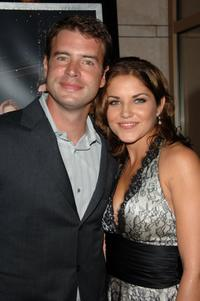 Scott Foley and Marika Dominczyk at the premiere party of