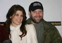 Sean Astin and Marisa Tomei at the 2005 Sundance Film Festival, attend the premiere for