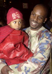 DMX and his son at the premiere of