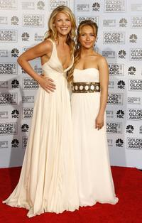 Ali Larter and Hayden Panettiere at the 64th Annual Golden Globe Awards.