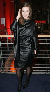Johanna Wokalek at the after party of the opening night of Berlin's International Film Festival.