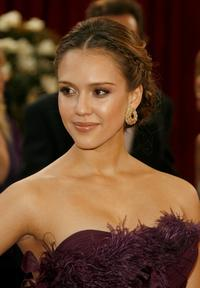 Jessica Alba at the 80th Annual Academy Awards.