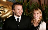 Heath Ledger and actress Michelle Williams at the Oscar Nominees Luncheon at the Beverly Hilton Hotel in Beverly Hills.