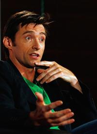 Hugh Jackman at the press conference for