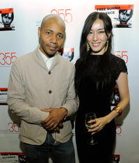DJ Spooky and Mie Iwatsuki at the Burmese Child Refugees Fundraiser Benefit in New York.