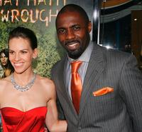Hilary Swank and Idris Elba at the premiere of