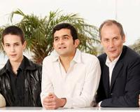 Emile Berling, Laurent Capelluto and Hippolyte Girardot at the photocall of