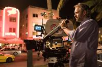Director Sam Mendes on the set of