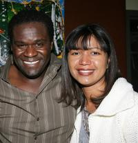 Markus Redmond and director Dominique Wirtschafter at the party of