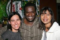 Producer Andrea Sperling, Markus Redmond and Director Dominique Wirtschafter at the party of