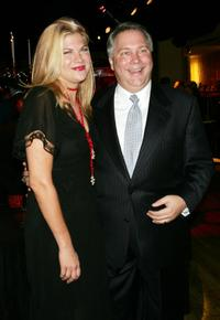 Kristen Johnston and New Group Executive Director Geoff Rich at the spring benefit for