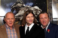 Sir Anthony Hopkins, Crispin Glover and Ray Winstone at the photocall to promote