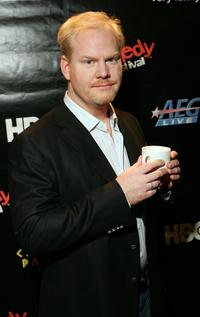 Jim Gaffigan at the backstage during the Comedy Festival.