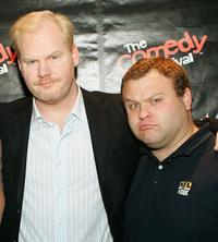 Jim Gaffigan and Frank Caliendo at the HBO's The Comedy Festival.