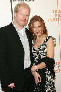 Jim Gaffigan and Jeanie at the screening of