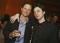 Tony Goldwyn and Zach Braff at the afterparty for the premiere of