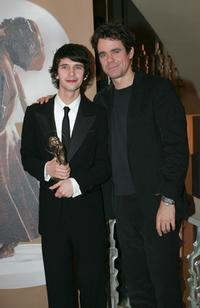 Ben Whishaw and Tom Tykwer at the ceremony of the Diva Award.