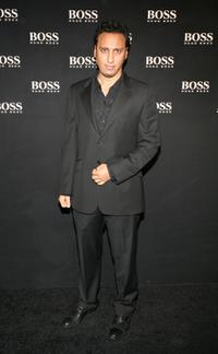 Aasif Mandvi at the Boss Black Spring / Summer 2008 collection show.
