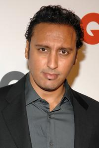 Aasif Mandvi at the GQ Magazines 50th Year Celebration party.