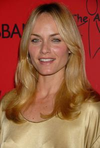 Amber Valletta at the announcement of the charity collaboration between fashion designers Dolce and Gabbana and actress Penelope Cruz to benefit The Art of Elysium.