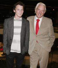 Anton Yelchin and Donald Sutherland at the premiere of