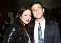 Lynn Collins and Joseph Gordon-Levitt at the after party of the California premiere of