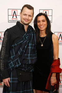 Holter Graham and Neela Vashwani at the 2012 AFTRA Media and Entertainment Excellence Awards.