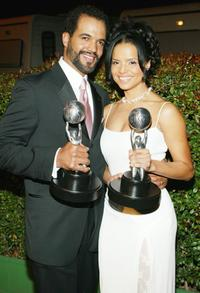 Kristoff St. John and Victoria Rowell at the 35th Annual NAACP Image Awards.