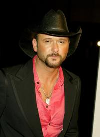 Tim McGraw at the Warner Music Group Post-Grammy Party.