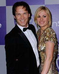 Stephen Moyer and Anna Paquin at the after party of the InStyle and Warner Bros. 67th Annual Golden Globes.