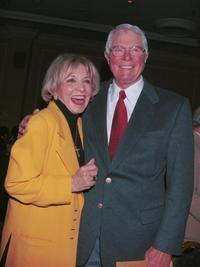 Peter Graves and Beverly Garland at the Pacific Pioneer Broadcasters Awards Luncheon honoring actress Beverly Garland.