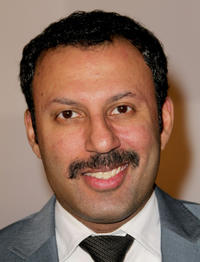 Rizwan Manji at the after party of 68th Annual Golden Globes in California.