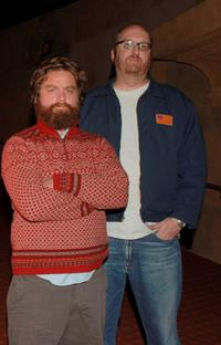 Zach Galifianakis and Brian Posehn at the special screening of