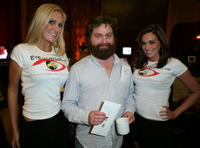 Zach Galifianakis and Guests at the Distinctive Assets gift lounge.