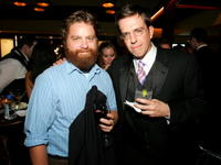 Zach Galifianakis and Ed Helms at the Comedy Central Emmy after party.