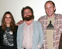 Nancy De Mayo, Zach Galifianakis and Jared Drake at the 2008 AFI Fest special screening of