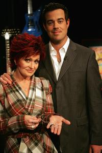 Sharon Osbourne and Carson Daly at the
