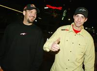 Kenny Bartran and Travis Pastrana at the premiere of