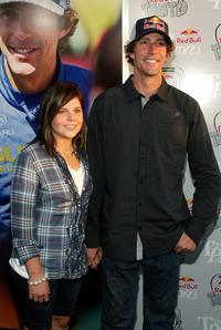 Travis Pastrana and Guest at the Red Bull Gets Toasted with Travis Pastrana event.