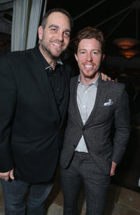 Michael Sugar and Shaun White at the GREY GOOSE Pre-Oscar Party in California.
