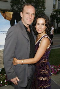 Jennifer Grey and her husband Clark Gregg at the premiere of