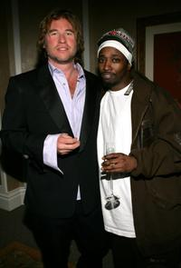 Eddie Griffin and Val Kilmer at the Clive Davis Annual Grammy Party.