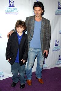 Frank Grillo and his son Remy at the Fifth Annual National Love Our Children Day.