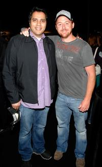 Scott Grimes and Aamer Haleem at the Stanley Cup VIP reception after Game Five of the 2007 NHL Stanley Cup Finals between the Ottawa Senators and the Anaheim Ducks.