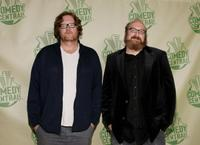 Steve Agee and Brian Posehn at the after party of Comedy Central Emmy.