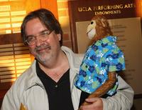 Matt Groening at the reception prior to a performance by the Rock Bottom Remainders during the LA Times Book Festival.