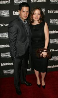 Jay Hernandez and Erika Christensen at the Entertainment Weekly Academy Awards viewing party.