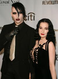 Marilyn Manson and Dita Von Teese at the Fashion Rocks Concert.