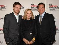 Steve Guttenberg, Topher Grace and Laura Ziskin at the